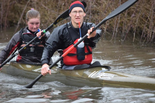 Amber and James looking determined on the Waterside Series.