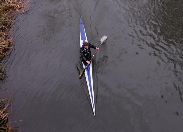Stefan Senk looking strong in the second half of Waterside B.