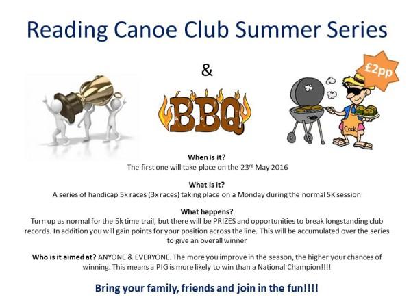 Reading Canoe Club Summer Series